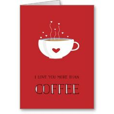 Cards to use when giving coffee as a gift to a java lover on Valentine's Day. Valentine's cards with coffee-related quotes or with cups of joe in the design. Coffee Lover Gifts, Coffee Lovers, Coffee Theme, Love You More Than, Valentine Day Gifts, Tableware, Cards, Fun, Gifts For Coffee Lovers