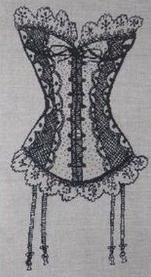 La guêpière-Mes dessous chics-lingerie-cross stitch-Point de croix-punto de cruz-Embroidery