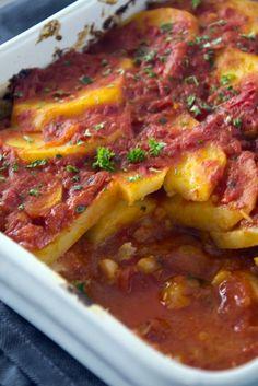 Kabeljauw uit de voen met aardappel en tomaat 3