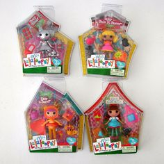 Mini Lalaloopsy 4 Dolls Golden Brick Road Oz Dotty Gale Winds Tinny Ticker Kitty #Dolls