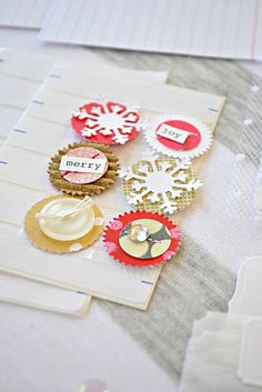 I really like these cute handmade embellishments. Can be made with your stash for any occasion.