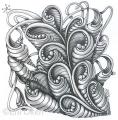 Opus is a super swirly and pretty tangle pattern developed by Maria Thomas of Zentangle, Read more