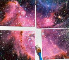 DIY Galaxy Marquee Art