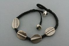 4 disc bracelet - black Men's Accessories, Leather Cuffs, Gloves, Beanie, Headphones, Wallet, Cufflinks, Black, Rings