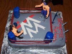 Cool+Homemade+Wrestling+Birthday+Cake