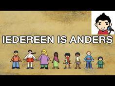 filmpje : lied en tekst 'Iedereen is anders' voor thema diversiteit