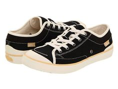 Simple  $16  http://www.ebay.com/itm/SIMPLE-SATIRE-HEMP-SNEAKERS-BLACK-WOMANS-SIZE-5-NIB-55-LIST-ECO-FRIENDLY-/160895263852?pt=US_Women_s_Shoes=item25761ae46c  Made from hemp, PET laces, organic cotton, and recycled tire.  Eco-friendly because it has sustainable hemp, certified organic parts, recyclable laces, and recycled tires. It even has recycled post-consumer and sustainable materials in its packaging. Great for gym class.