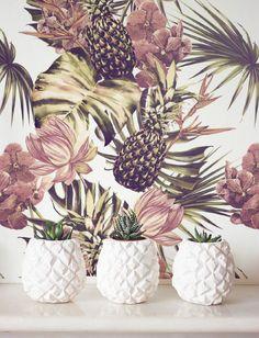 Tropical Wallpaper, Removable Wallpaper, Self-adhesive Wallpaper, Wall Décor, Jungle Wallcovering - JW089