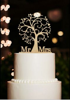 Mr and Mrs Cake Topper Wood Cherry Blossom Tree Rustic Wedding Cake Topper  Wedding Decorations  free shipping-in Cake Decorating Supplies from Home & Garden on Aliexpress.com | Alibaba Group