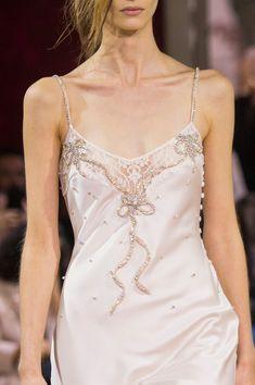 John Galliano at Paris Fashion Week Spring 2018 - Details Runway Photos Runway Fashion, High Fashion, Womens Fashion, Couture Fashion, Paris Fashion, Pijamas Women, Lace Slip, John Galliano, Runway Models
