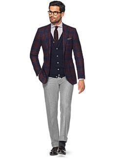 Jacket Red Check Havana C924i | Suitsupply Online Store