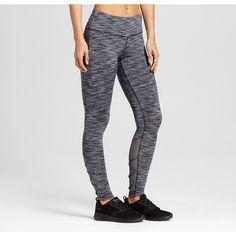 Women's Freedom Strappy Mesh Leggings - Dark Grey/Quartz Grey Xxl - C9 Champion