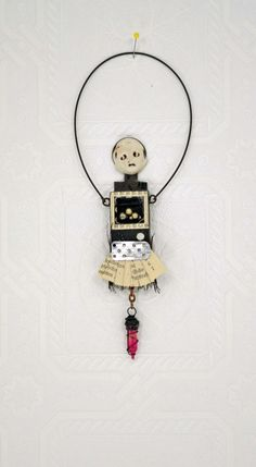 MIxed media Art Doll. via Etsy. ...BTW,Check this out: http://artcaffeine.imobileappsys.com