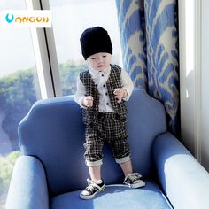 e98d88bade47 Baby Boys Clothing Sets Bow Tie Bodysuit Suspenders Pants Tops 2pcs ...