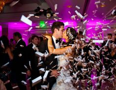 Confetti drop on the dance