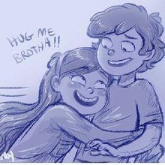 Hug her bro