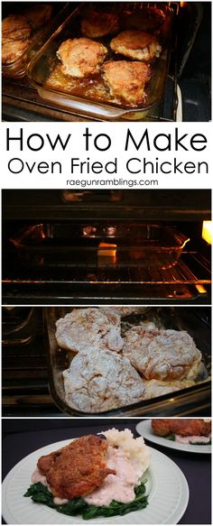 My go to weeknight dinner chicken recipe. This oven fried chicken turns out great every time