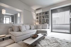 Apartment in Kifissia 02 850x567 AD Architects Design an Interior in White in Kifissia, Greece