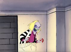 BEETLEJUICE 1989 TIM BURTON ORIGINAL BEETLEJUICE CEL & HAND PAINTED BACKGROUND in Collectibles, Animation Art & Characters, Animation Art, Production Art | eBay