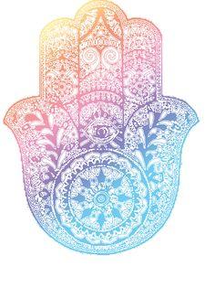 Rainbow Hamsa by adjsr