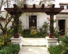 Mediterranean Dark Wood Awning Design, Pictures, Remodel, Decor and Ideas