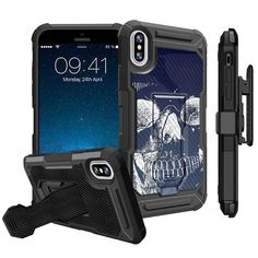 Slim Clear Roar Wolf Case for iPhone X iPhone 10 Customized Design Soft TPU and Rubber Flexible Durable Shockproof iPhone X iPhone 10 Protective Case-Anti-Slippery