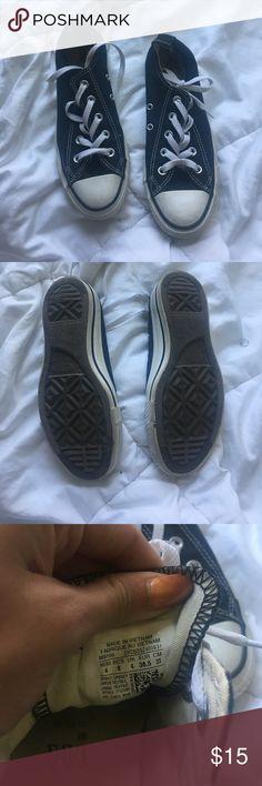 Black low top converse Barely worn black low top converse size 6 Converse Shoes Sneakers