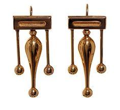 Victorian 18k Gold Drop Earrings