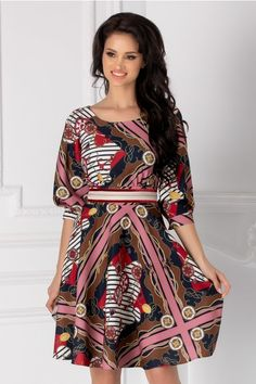 Rochii cu Imprimeuri Blouse Styles, Blouses For Women, Wrap Dress, Dresses With Sleeves, Shirt Dress, Long Sleeve, Shirts, Fashion, Moda