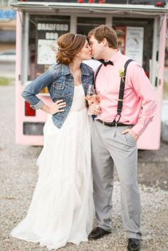 Image result for wedding dress jean jacket