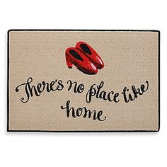 The No Place Like Home Door Mat is a welcoming front door greeting piece that a scarecrow, a lion, a tin man and even Toto would love. This durable mat features perfect bound stitched edges, and is ideal for both indoor and outdoor use.