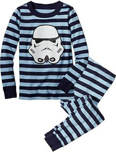 Star Wars™ Stormtrooper Long John Pajamas from #HannaAndersson. Man, I love these, but 42!!!! Dollars!!!!