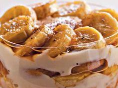 Pavê de banana caramelada -