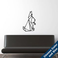 Rabbit Origami Wall Decal  Vinyl Sticker  Free by urbandecal