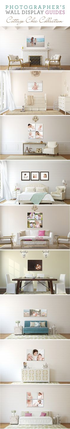 The new Cottage Chic Collection: 10 airy, bright and gorgeously coordinating room backgrounds. Perfect for your summer sessions! #photography