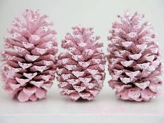 Pretty pink pinecones