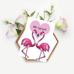Flamingi / Flamingos / Love / Heart