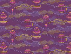 Estrella de Anis: Pattern Design #balloons #color #illustration