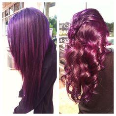 Pravana magenta & violet on Asian hair