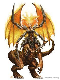 Ymeri, Queen of the Inferno by christopherburdett.deviantart.com on @DeviantArt