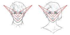 線を使ってゆがみをチェック!バランス良く顔を描く5つのポイント   いちあっぷ Face Topology, Model Body, Drawing Tips, Portrait, Drawings, Manual, Twitter, Perspective, Tutorials