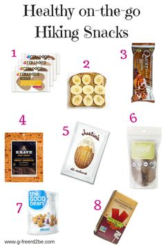 Top healthy hiking snacks from a Nutritionist /// The G-Free RD2B