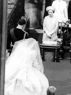 July Lady Diana Spencer marries Prince Charles at St. Charles, Prince of Wales, bows and his bride, Lady Diana, curtsies to Queen Elizabeth as they leave St Paul's Cathedral (Getty photo) Prince Charles Wedding, Charles And Diana Wedding, Princess Diana Wedding, Prince Charles And Diana, Princess Diana Family, Prince And Princess, Windsor, Norfolk, Lady Diana Spencer