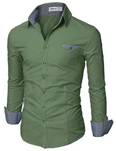 Doublju+Mens+Slim+Fit+Long+Sleeve+Flannel+Dress+Shirt+GREEN,XL+Doublju+http://www.amazon.com/dp/B00W2UF9XO/ref=cm_sw_r_pi_dp_s5VAwb1FAZYJ6