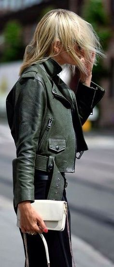 Green City Chic Moto Jacket by They All Hate Us