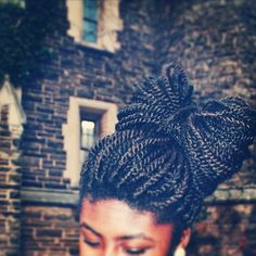 marley twists | Tumblr I know I can't do this but still SO PRETTY Marley Twist Hairstyles, African Hairstyles, Up Hairstyles, Wedding Hairstyles, Natural Hair Care, Natural Hair Styles, Beautiful Black Hair, Marley Twists, Protective Hairstyles