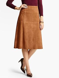 Talbots - Long Suede Skirt | | Misses Discover your new look at Talbots. Shop our Long Suede Skirt for stylish clothing and accessories with a modern twist at Talbots