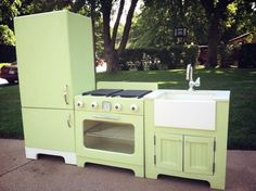 Turn a desk into a play kitchen fyi you can buy oven parts from play kitchen do it yourself home projects from ana white solutioingenieria Choice Image