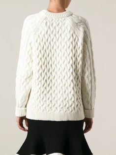 McQ Alexander McQueen cable knit sweater