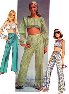1960s MIDRIFF Top and Pants Simplicity 8665 Vintage 60s Sewing Pattern Size 9/10 Bust 30.5 UNCUT by sandritocat on Etsy